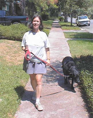 Houston dog walker, Brenda Gordon, provides pet sitting and dog walking in Houston's Inner Loop
